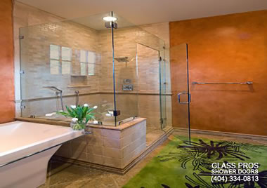 corner frameless glass shower enclosure canton ga